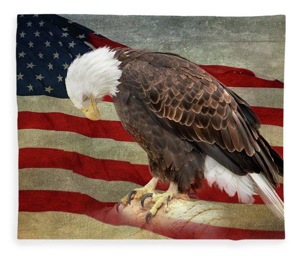 Pray For America Fleece Blanket