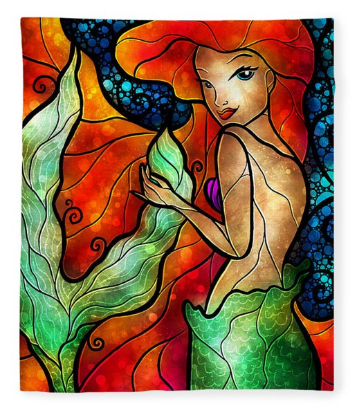 Princess Of The Seas Fleece Blanket