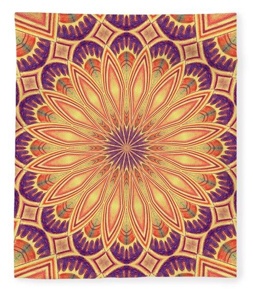 Purple And Gold Fleece Blanket