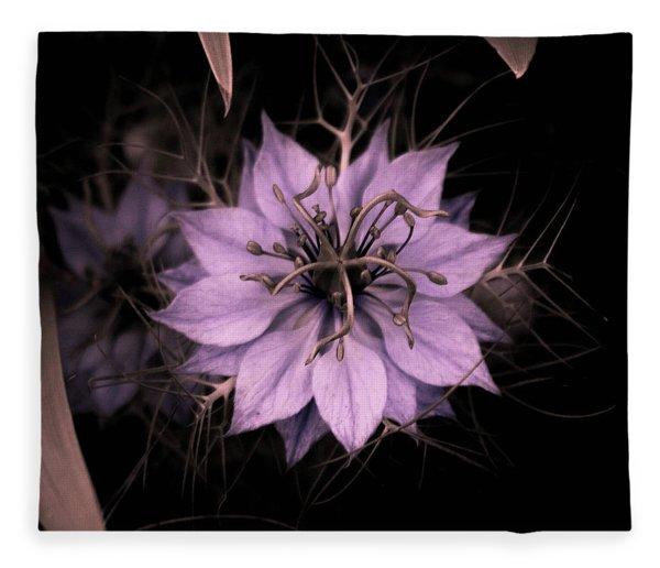 Purple Peculiarity Fleece Blanket