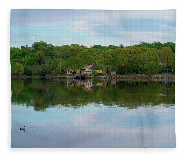 Quiet Evening By The River Fleece Blanket