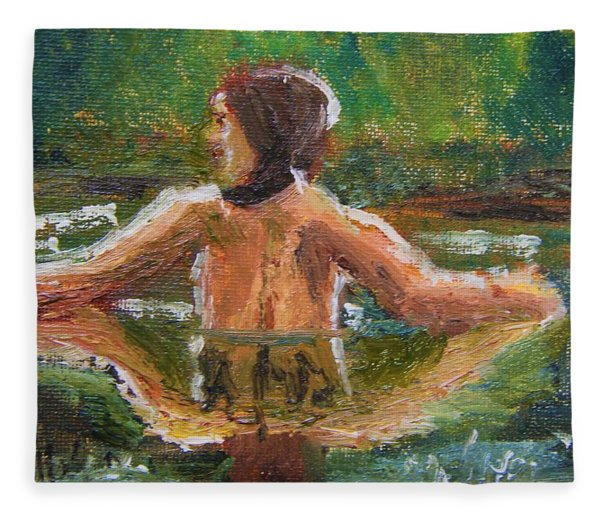 Quiet Reflection Fleece Blanket