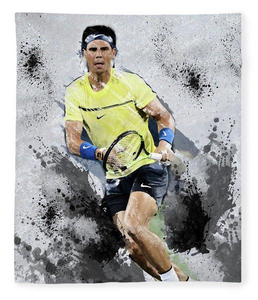 Rafael Nadal Fleece Blanket