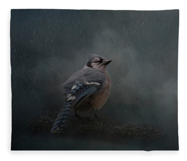 Rainy Day Blues  Fleece Blanket
