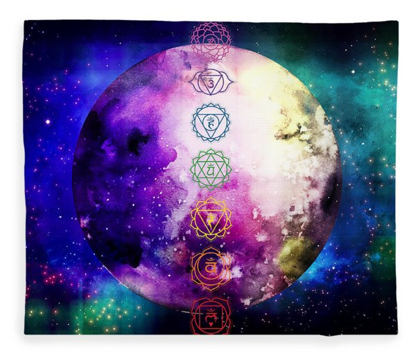 Fleece Blanket featuring the digital art Reach Out To The Stars by Bee-Bee Deigner
