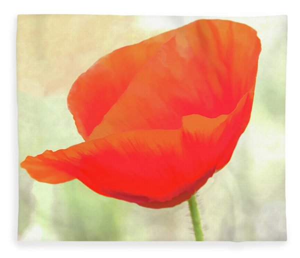 Red Poppy In Memoriam Fleece Blanket