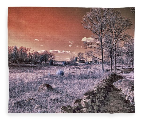 Red Sky At Night Fleece Blanket
