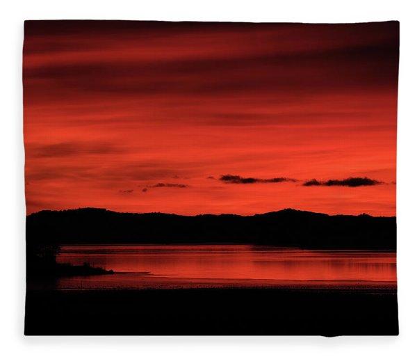 Red Sunset Fleece Blanket