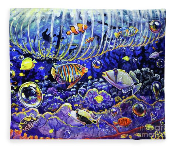 Reef Break Fleece Blanket