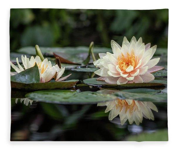 Delicate Reflections Fleece Blanket