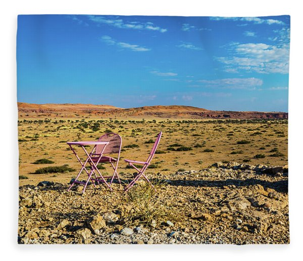 Refreshments Pit Stop In The Middle Of Nowhere Fleece Blanket