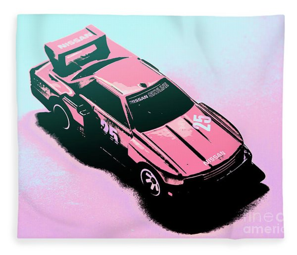 Retro Race Colours Fleece Blanket