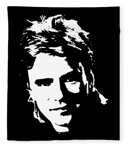 Richard Dean Anderson Minimalistic Pop Art Fleece Blanket