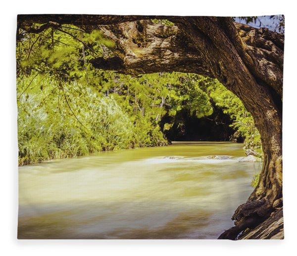 River Banks In Trelawny Jamaica Fleece Blanket