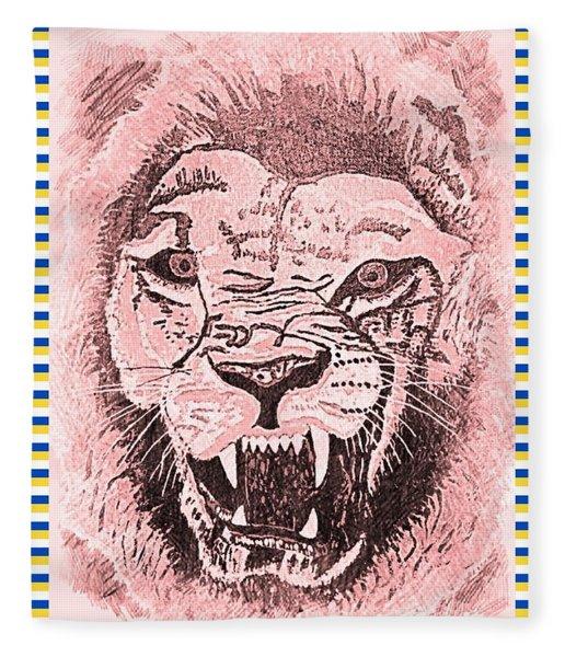 Roaring Lion 3 Fleece Blanket