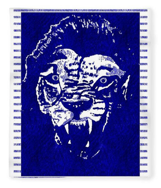 Roaring Lion Blue 2 Fleece Blanket