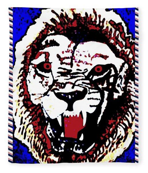Roaring Lion Burn 4 Fleece Blanket