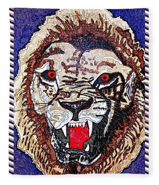 Roaring Lion Paint 1 Fleece Blanket
