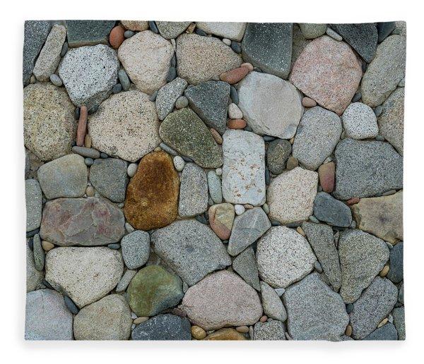 Rock Wall Pattern Fleece Blanket