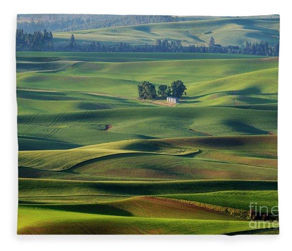 Rolling Green Fleece Blanket
