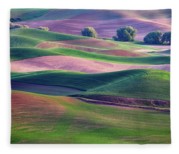 Rolling Hills Of The Palouse Fleece Blanket