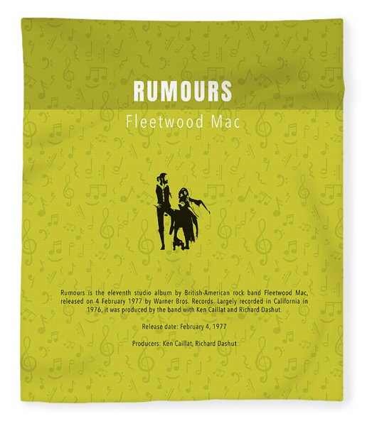 Rumours Fleetwood Mac Greatest Albums Of All Time Minimalist Series Fleece Blanket