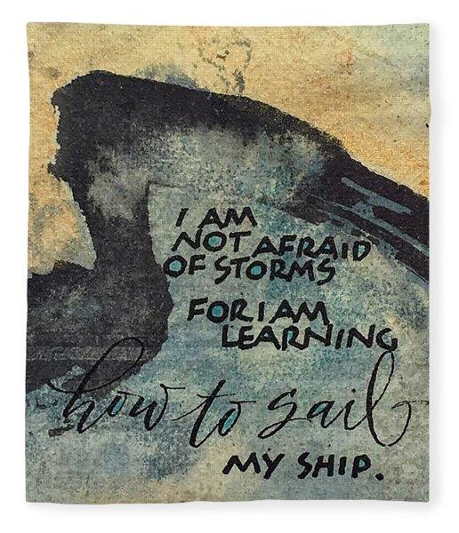 Sail Your Ship Fleece Blanket