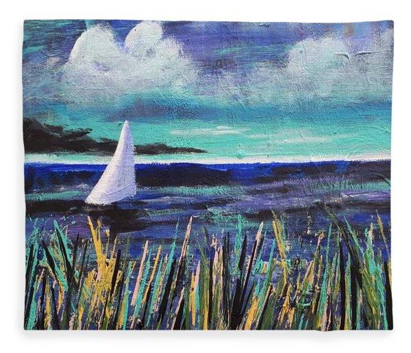 Sailboat Drifting Fleece Blanket