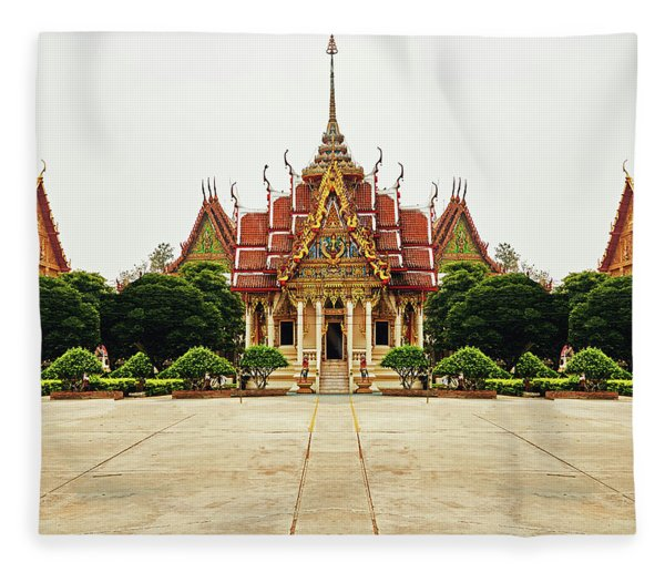 Sak Yant  Fleece Blanket