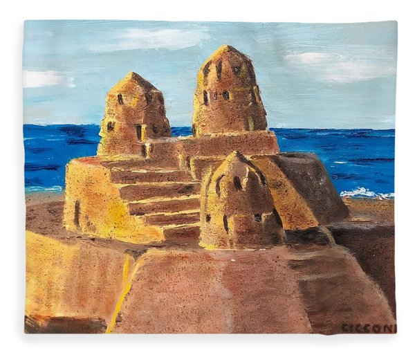 Sand Castle Fleece Blanket
