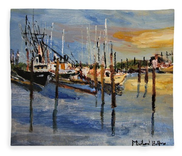 Sandwich Harbor Fleece Blanket