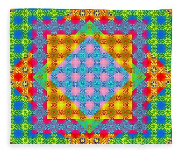 Sankofa Kaleidoscope Prime 1 Fleece Blanket