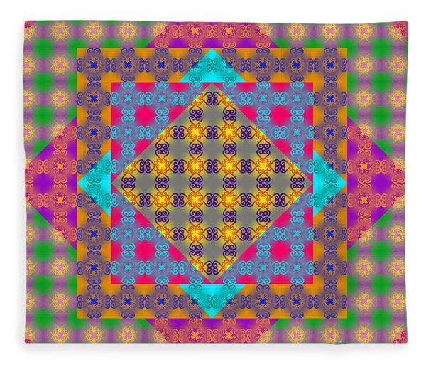 Sankofa Kaleidoscope Prime 2 Fleece Blanket