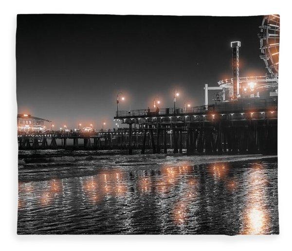 Santa Monica Glow By Mike-hope Fleece Blanket