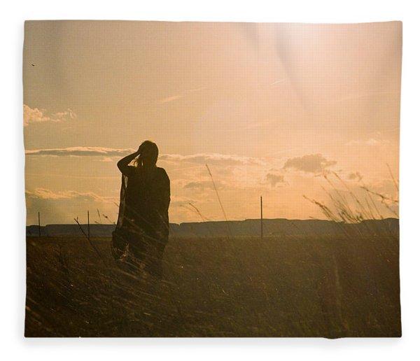 Sarah In Sunlight Fleece Blanket