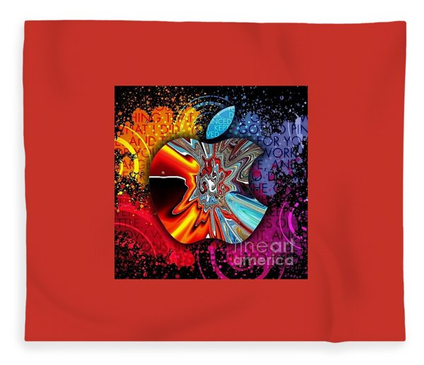 Fleece Blanket featuring the digital art Say Some Thing  by A z Mami