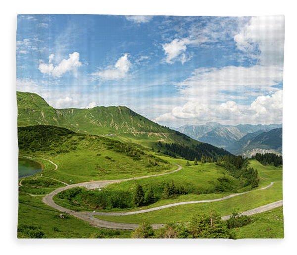 Schlappoldsee, Allgaeu Alps Fleece Blanket