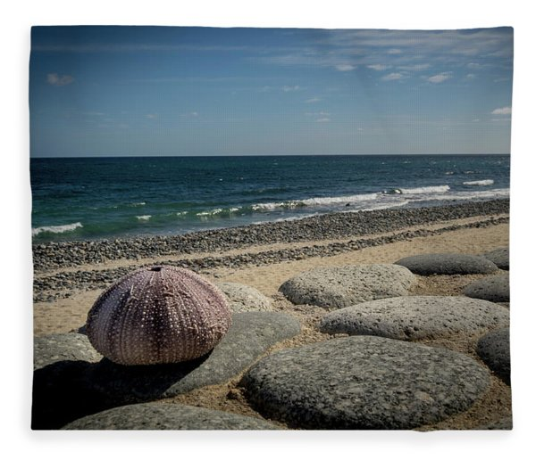 Sea Urchin View Fleece Blanket