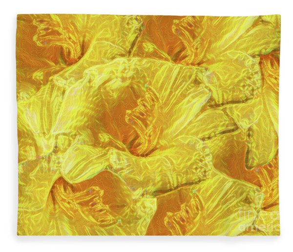 Selective Yellow Lilies Fleece Blanket