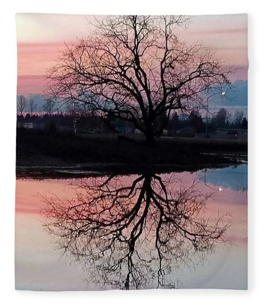 Serenity At Sunset Fleece Blanket