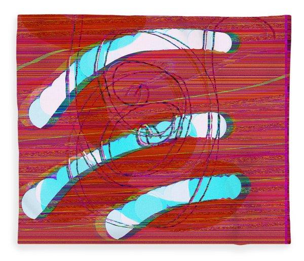 Fleece Blanket featuring the digital art Set Me Free by Bee-Bee Deigner