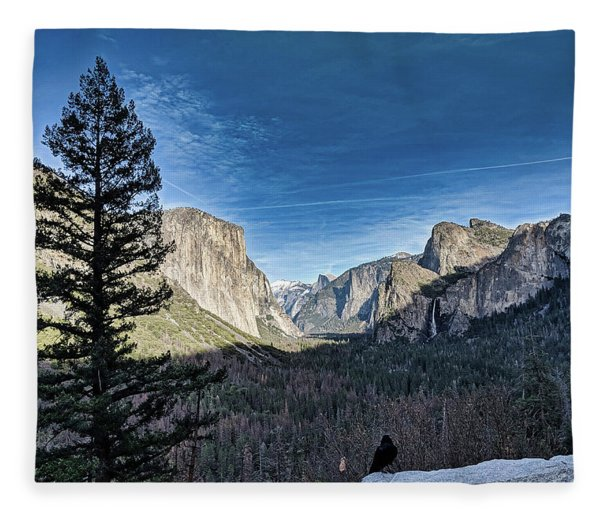 Shadows In The Valley Fleece Blanket