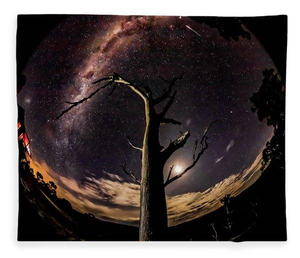 Shooting Stars And Milky Way Fleece Blanket