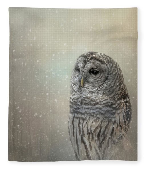 Silent Snow Fall Fleece Blanket