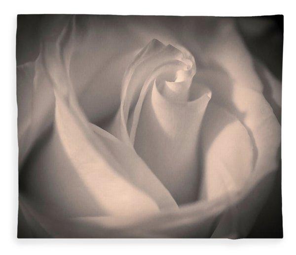 Silky Pastel Rose Fleece Blanket