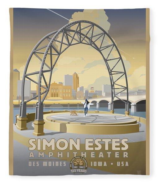Simon Estes Amphitheater Fleece Blanket