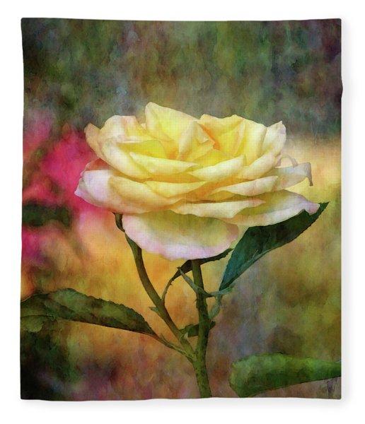 Slight Yellow 5570 Idp_2 Fleece Blanket