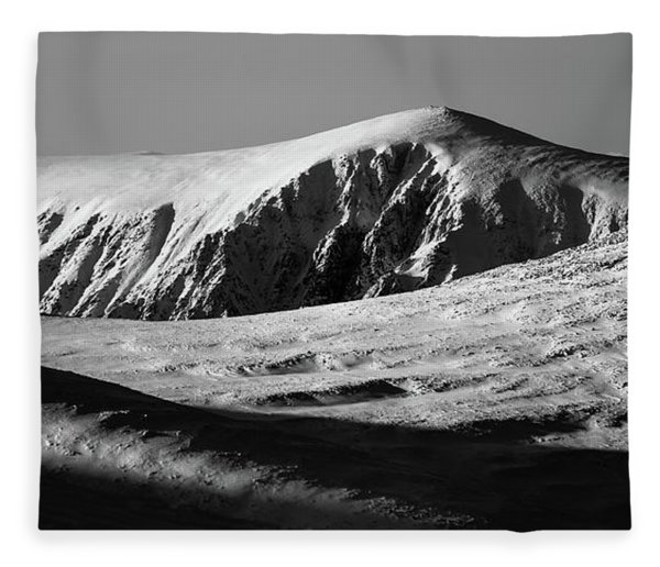 Snow On Cairngorm Fleece Blanket
