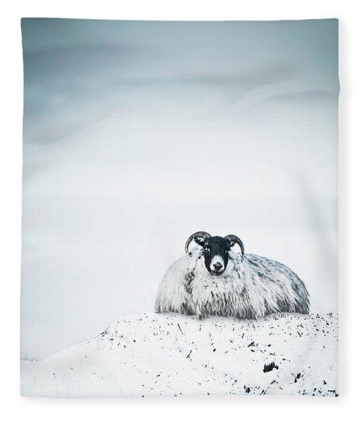 Snow Sheep Fleece Blanket