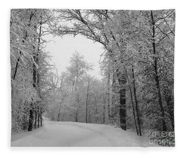 Snow Trail Fleece Blanket